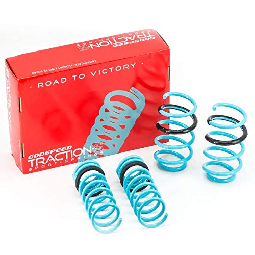 Godspeed LS-TS-FD-0005 Traction-S Performance Lowering Springs, Reduce Body Roll, Improved Handling, Set of 4 ()