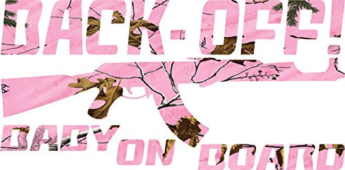 Light-pink-camo-Back-Off-Baby-on-Board-Sticker-Decal