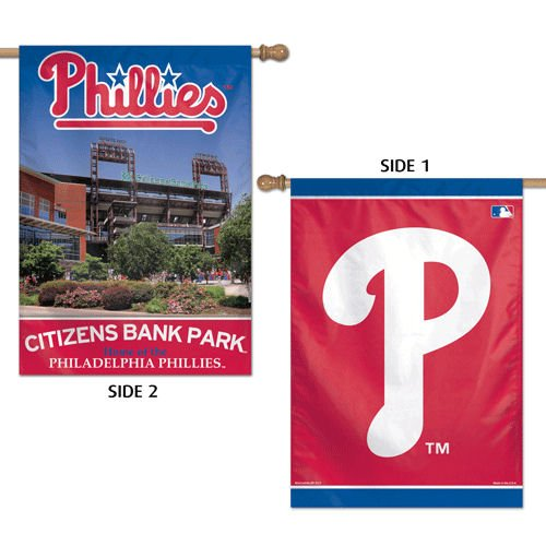 lphia Phillies 2 Sided Vertical Flag, 28 x 40 ()