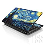 LSS 17 17.3 inch Laptop Notebook Skin Sticker Cover Art Decal Fits 16.5' 17' 17.3' 18.4' 19' HP Dell Apple Asus Acer Lenovo Asus Compaq (Free 2 Wrist Pad Included) Van Gogh Starry Night