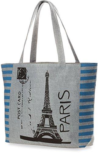 Leinentasche Shpper Bag leichte Einkaufstasche Damentasche mit modischem Muster – Kuh