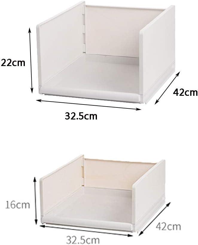Mdurian Organisateur de Tiroir en Plastique Empilable Pliable Bo/îte de Rangement Paniers V/êtements Armoire Cubes Diviseurs de Tiroir pour la Maison Chambre Cuisine