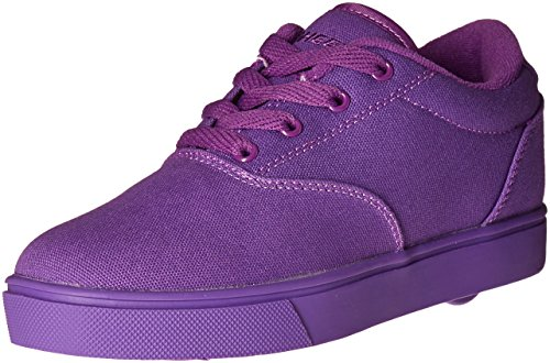 Heelys Girls' Launch Sneaker, Purple Solid, 3 M US Big Kid