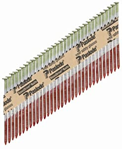 paslode 650381 round head 2 inch by 0113 inch by 30 degree paper tape collated ring shank hot dipped galvanized framing nail 2000 per box