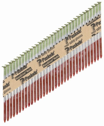 Paslode 650388 Round Head 3-1/4-Inch by .131-Inch by 30 Degree Paper Tape Collated Hot Dipped Galvanized Framing Nail (2,000 per Box)