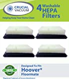 4 Hoover Floormate Washable Reusable HEPA Filter Compare To Hoover Vacuum Floor Mate Filter Part # 40112050 Designed and Engineered By Crucial Vacuum, Appliances for Home