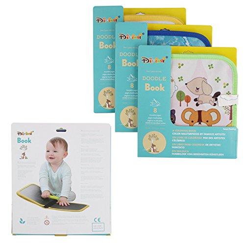 Tabla de dibujo port/átil para ni/ños para escribir y aprender tres tipos de entrega al azar libro de tiza para beb/é aprendizaje temprano juguete innovador colorido graffiti