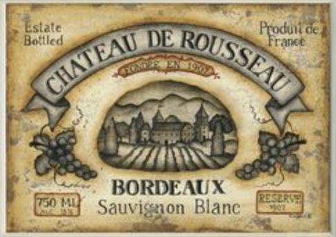 Stupell Industries KWP-877 Tan Chateau De Rousseau Bordeaux Rect Wall Plaque (Wall Plaque Chateau)