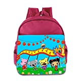 Kids Ni Hao,Kai-lan School Backpack Cartoon Children School Bags Pink