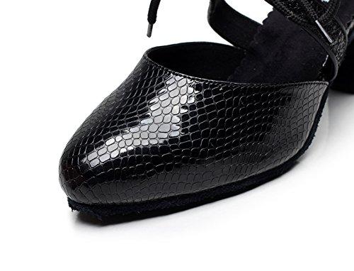 Baile Latino Sandalias Jazz Moderno heeled7cm Para Salsa Black De Punta Our35 EU34 Redonda Zapatos UK3 Chacha JSHOE Tacones Samba Altos Tango De Mujer 5 6wOttE