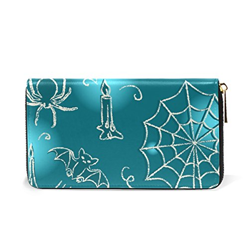 Candle Around Handbags Zip Wallet And Organizer Bat TIZORAX Womens Halloween Spider Clutch Purses fxRw6nTaq