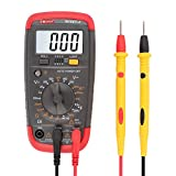 DAPRIL Digital Multimeter Multi Tester Capacitance Test AC/DC Voltage Current Resistance Continuity Diode Transistor hFE Meter LCD Backlight Display Smart-C