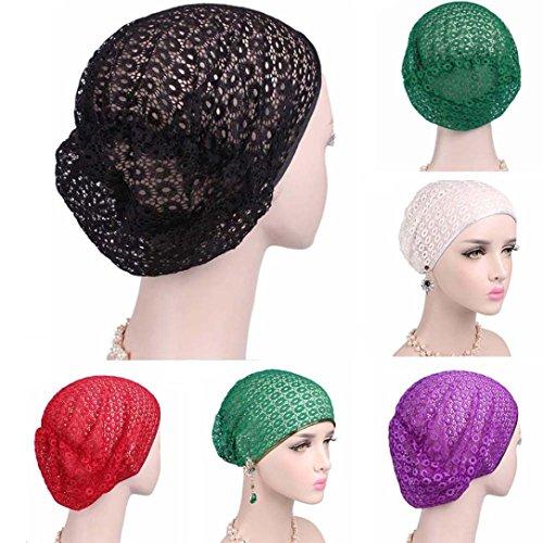 Scarf Fashion Tied (Nacome Women Muslim Hijab Ruffle Cancer Chemo Elegant Hat Beanie Scarf Turban Head Wrap Cap (White))