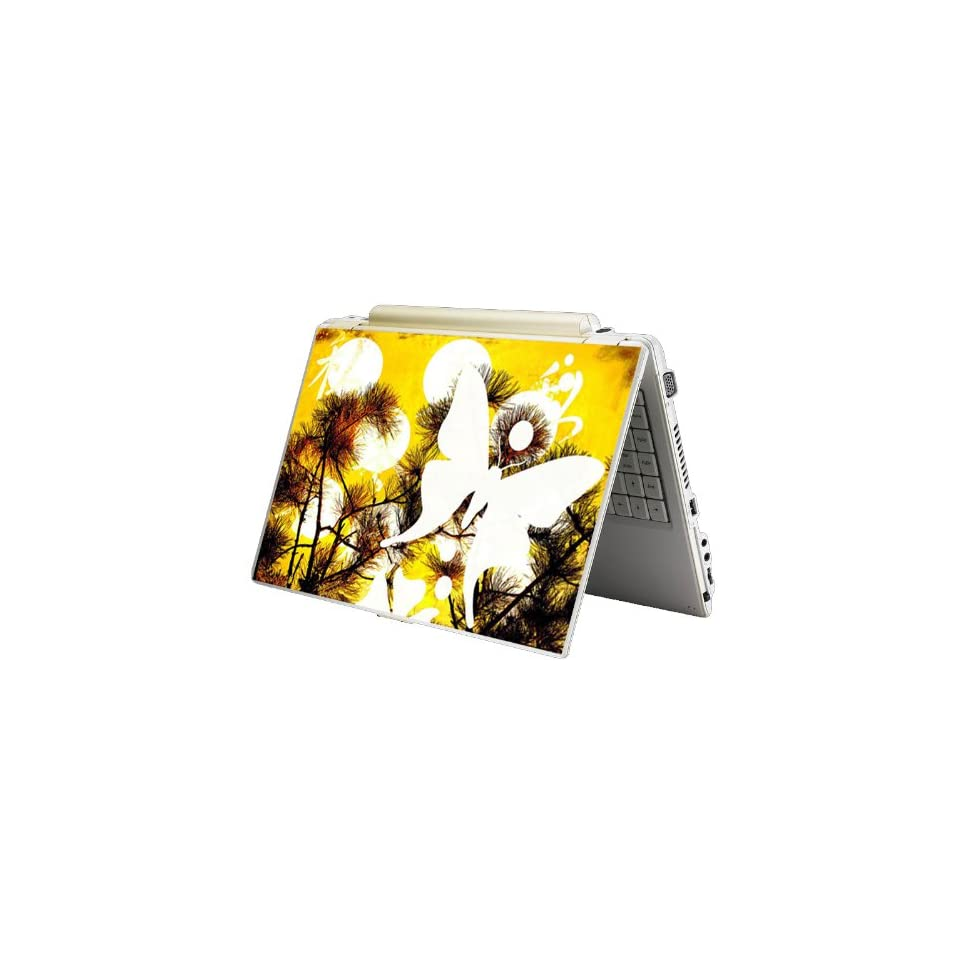 Bundle Monster Laptop Notebook Skin Sticker Cover Art Decal   12 14 15   Fit HP Dell Asus Compaq   Butterfly Light