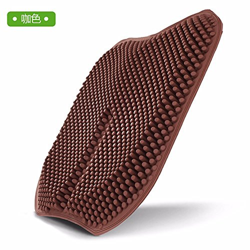 Car Cushion Single No Back Four Seasons Common Cold Pad Summer Cushions Free Bundle Massage Ventilation Breathable Cushion 43403Cm Brown