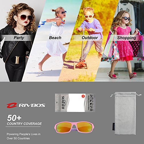 c9e8e903590 RIVBOS RBK003 Rubber Flexible Kids Polarized Sunglasses for - Import It All