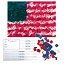 Hygloss Products, Inc. American Flag Tissue Paper Kit, 5.5 x 8.5-Inches, 10 Sets