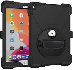 """The Joy Factory aXtion Bold MP Water-Resistant Rugged Shockproof Case, Built-in Screen Protector, Hand Strap, Kickstand for iPad 10.2"""" 7th Gen (CWA632MP)"""