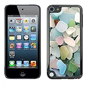 "For Apple iPod Touch 5 Case , Verano Playa Cristal Azul pastel"" - Diseño Patrón Teléfono Caso Cubierta Case Bumper Duro Protección Case Cover Funda"
