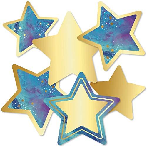 Carson Dellosa - Galaxy Stars Colorful Cut-Outs, Classroom Décor, 36 - Outs Cut Colorful Cd