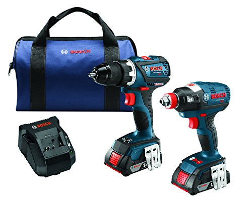 Bosch 18 V 2-Tool Combo Kit with EC Brushless 1/4 In. and 1/2 In. Socket-Ready Impact Driver and EC Brushless Compact Tough 1/2 In. Drill/Driver CLPK238-181 by Bosch