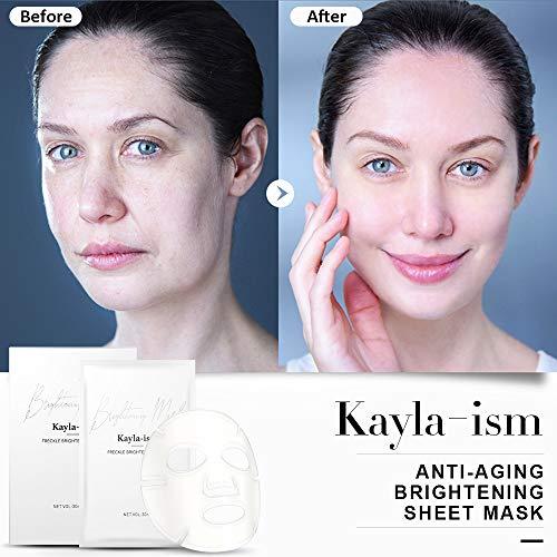 515GJGYaWmL - Kayla-Ism Facial Mask | Repairing Skin in 28 days | Collagen Mask Sheet with Jasmine essence| Long last Moisturizing Face Mask | Anti Aging Brightening Face Sheet Mask | Natural Face Mask Pack