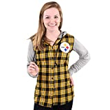 NFL Pittsburgh Steelers Womens NFL Women's Lightweight Flannel Hooded Jacket, X-Large