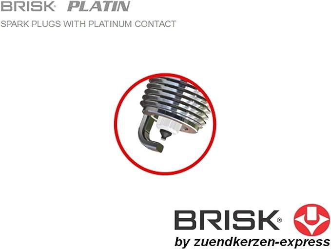 Brisk Platin Boex14yp 1957 Zündkerzen 4 Stück Auto