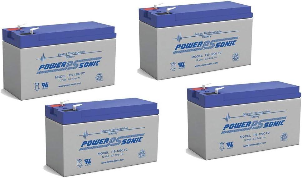 UB1290 F2 - 12V 9Ah APC SmartUPS 2200 RMI3U SLA Replacement Battery - 4 Pack