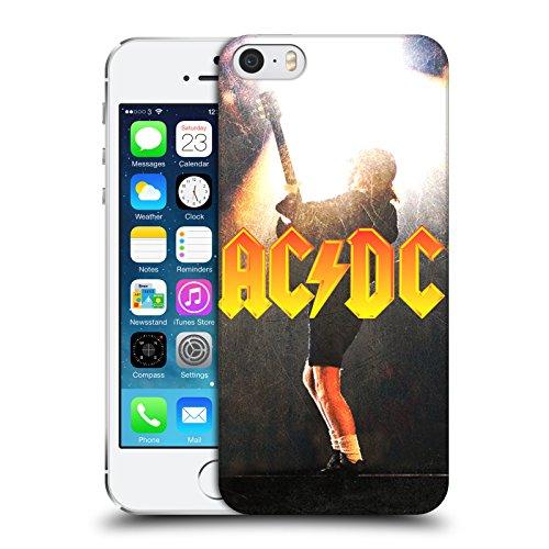 Officiel AC/DC ACDC Angus Young Concerte Solo Étui Coque D'Arrière Rigide Pour Apple iPhone 5 / 5s / SE