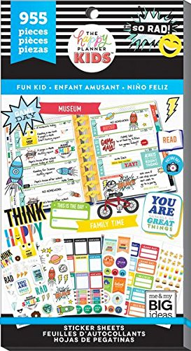 Create 365 Happy Planner Sticker Value Pack, Fun Kid (Fun Embellishment)