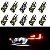 2012 Acura TSX License Plate Light Bulbs - SEALIGHT 194 LED Light Bulb, 168 2825 W5W T10 Wedge 3030 Chipsets LED Replacement Bulbs, 6000K White Super Bright, Error Free for Car Dome Map Door Courtesy License Plate Lights (Pack of 10)