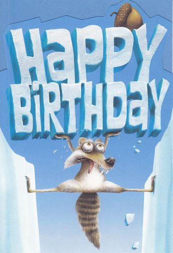 age by birthday Amazon.com: Greeting Card Birthday Ice Age Dawn of the Dinosaurs  age by birthday