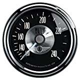 Auto Meter 2033 Prestige Black 2-1/16'' 120-240 Degree Mechanical Water Temperature Gauge