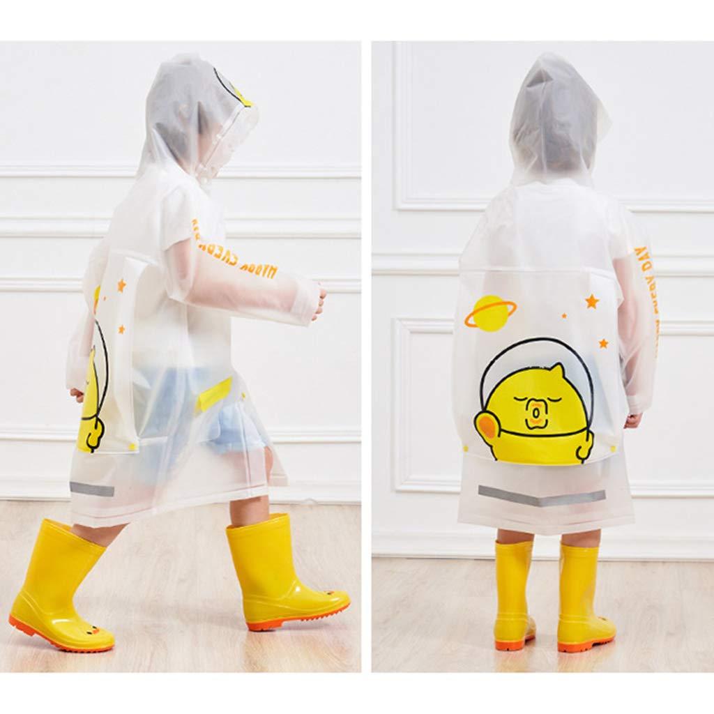 Blue Unicorn Kids Rain Coat Inflatable Hooded Rainproof Cape Waterproof Jacket Boys Girls Poncho Reusable Rainwear