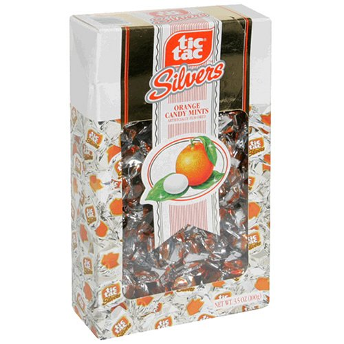 Tic Tac Silvers Orange Family Pack, 3.5-Ounce Boxes (Pack of 12)