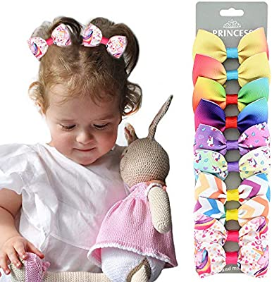 2.75 Inch Small Baby Hair Bows Grosgrain Ribbon Hair Bows with Alligator Clips