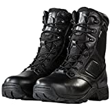 Steel Toe Tactical Boots - FREE SODLIER Waterproof Shoes Penetration Resistant Composite Toe Combat Boot(Black 11)