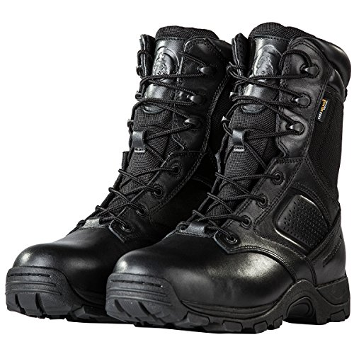 FREE SOLDIER Steel Toe Work Boots for Men Waterproof Insulated Composite Boots Tactical Combat Boots(Black 7) Desert Combat Uniform Boots