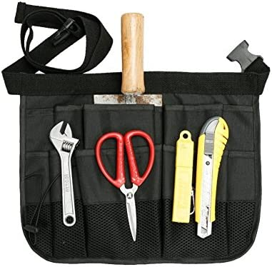 QEES 道具袋 ツールバッグ ケース 工具バッグ 便利 作業道具 工具小物整理ケース 多機能袋 オックスフォード 耐震 多機能 エプロン型 前掛け ツールロール