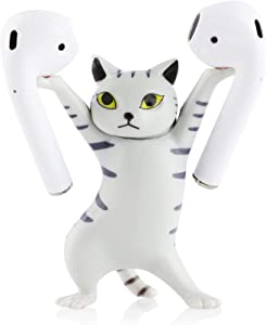 Dance Cat Headphone Stand Headphone Holder, Enchanting Cat Wireless Earphone/Earbuds Stand Holder, for Apple AirPods 1/2/Pro