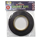 Magnet Tape, Self Adhesive Easy Cut, 0.5'' Width, 5 Meter Roll