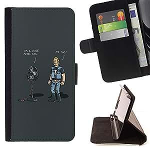 Momo Phone Case / Flip Funda de Cuero Case Cover - Huge Metal Fan - Funny - Samsung Galaxy S5 V SM-G900