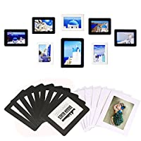 """Magnetic Photo Frame for Refrigerator Securely holds picture or note on any flat metal surface, Holds 4x6"""" 3.5x5"""" 3.5x2.5"""" Photos, 15pcs ( 9Black,6White)"""