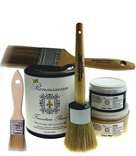 Renaissance Chalk Finish Paint 1/2 Pt – Superior Coverage, Non Toxic – Aegean Coral (8oz)