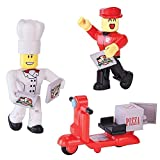 NEW Roblox Work at a Pizza Figure Set Series 1 Chef Delivery Guy Scooter 10726