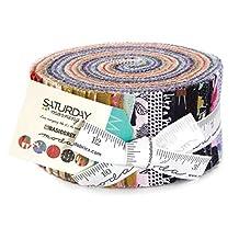 BasicGrey Saturday Morning Jelly Roll 40 2.5-inch Strips Moda Fabrics 30440JR