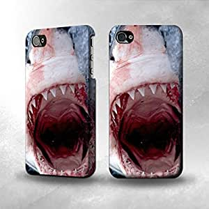 Apple iPhone 5 / 5S Case - The Best 3D Full Wrap iPhone Case - aws Shark Mouth