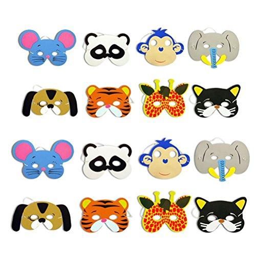 TOYMYTOY 12pcs mascarilla animal para los niños de los niños favores de fiesta de cumpleaños vestir traje: Amazon.es: Juguetes y juegos