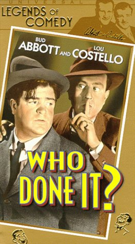 Abbott & Costello: Who Done It [VHS] -